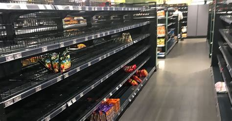 Shoppers shocked by empty shelves as supermarket removes