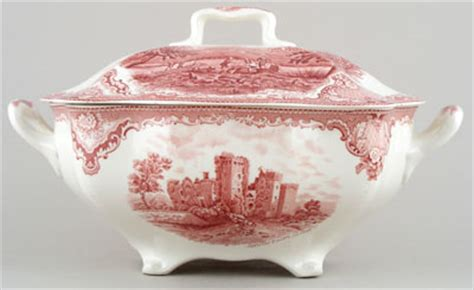 Johnson Bros Old Britain Castles pink Soup Tureen c1950s