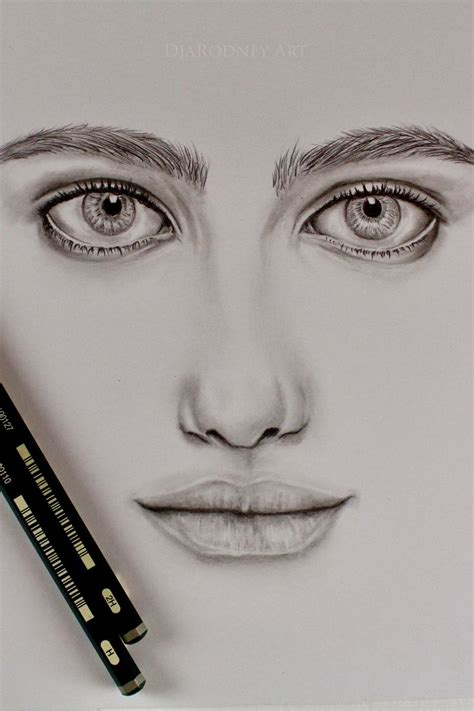 Drawing   Realistic Eyes, Nose, Lips    Time-lapse