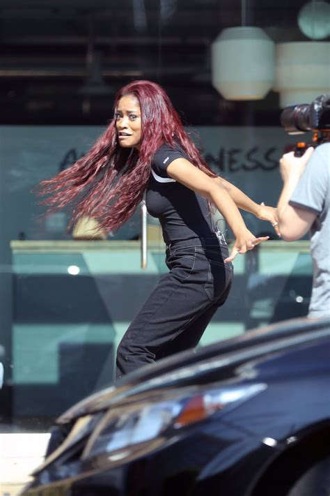 KEKE PALMER on the Set of a TV Show in Los Angeles 03/12