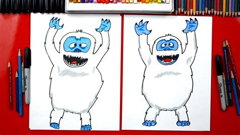 How To Draw A Bumble Abominable Snowman - Art For Kids Hub