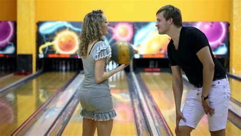 Girl Throws Bowling Ball To Beat Skittles, Boy Jumps Very
