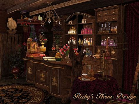 The Witch's Potion Shop by Ruby | Fantasy concept art