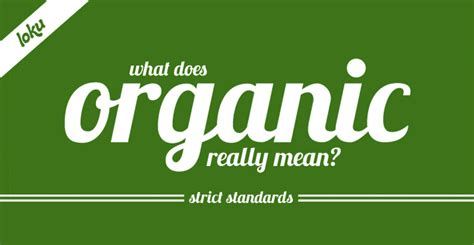 Infographic: What Does Organic Really Mean?   Tasty Recipes