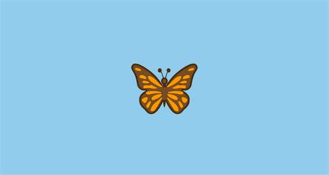 Butterfly Emoji on Google Android 8
