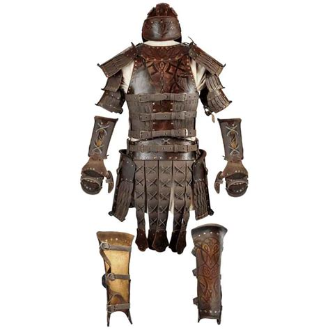 Odomar Viking Leather Armour Package - RT-243 - Dark