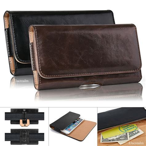 Leather Belt Clip Pouch Holster Carrying Case For SAMSUNG