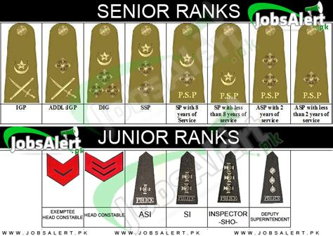 Pakistan Police Officers Ranks and Badges, Salary / Pay