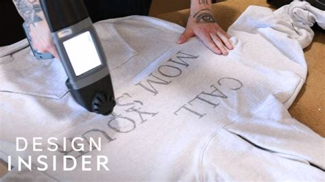 Portable Printer Directly Prints Designs On Clothes - YouTube