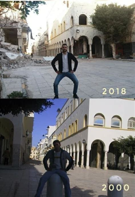 """Libya """"Before And After"""" Photos Go Viral 