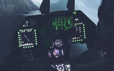 F-16, F-35, F-18 and other fighter jet simulator cockpits