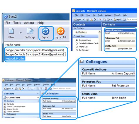 Sync Google contacts with Microsoft Outlook