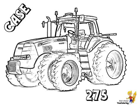 Fired Up Free Tractor Coloring | Tractors | Tractor Parts