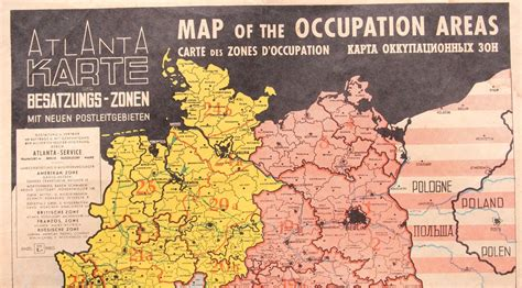1946 Map of the Occupied Areas - Germany Map after WW2