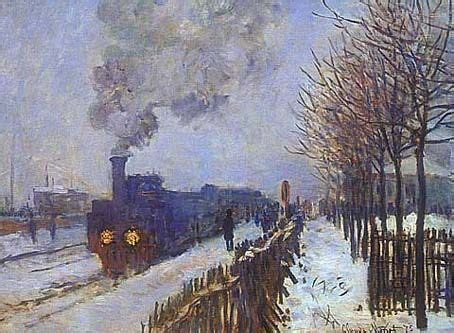 Train in the Snow - Claude Monet canvasreplicas