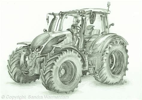 Valtra N174 Drawing - Pencil Drawing | Tractor art
