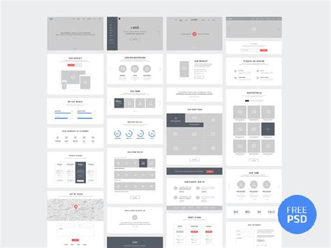 20 Templates For Creating High-Fidelity Wireframes | Web