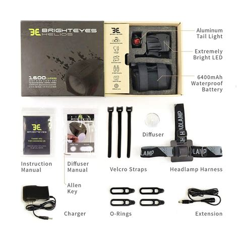 1600 Lumen Helios Rechargeable Bicycle Light Set – Bright
