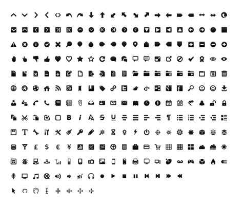 Wireframe black and white icon set Free Download for